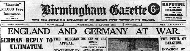 Birmingham-Gazette-5-August-1914