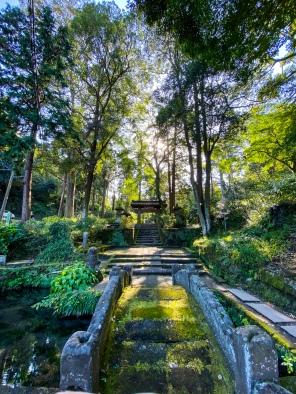 The enchanting and serene entrance to Jochu-ji shrine in Kamakura.