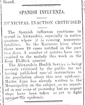 Egyptian Gazette, November 18, 1918
